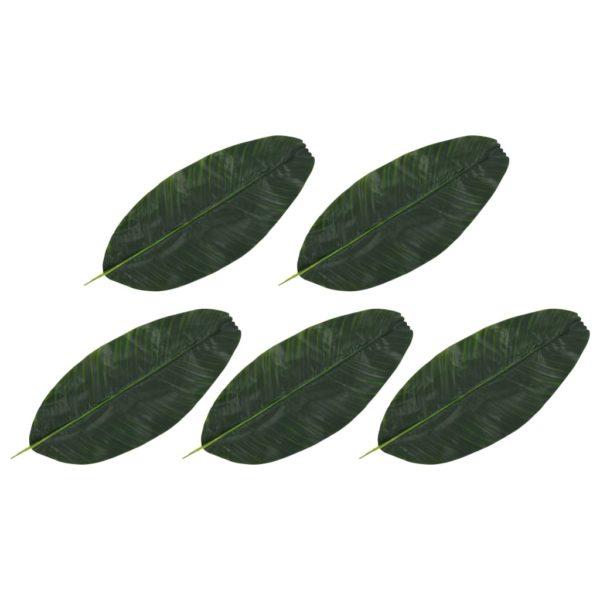 Künstliche Blätter Banane 5 Stk. Grün 62 cm