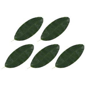 Künstliche Blätter Banane 5 Stk. Grün 80 cm