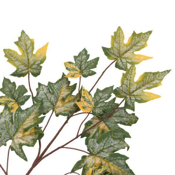 Künstliche Blätter Ahorn 10 Stk. Grün 75 cm