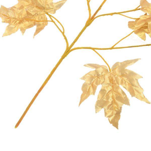 Künstliche Blätter Ahorn 10 Stk. Golden 75 cm