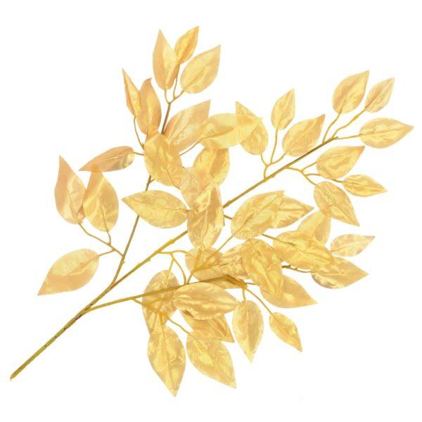 Künstliche Blätter Ficus 10 Stk. Golden 65 cm