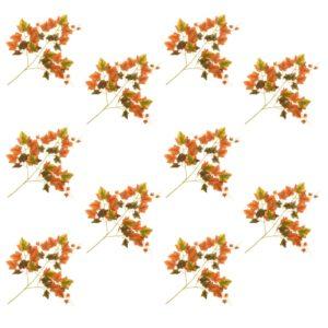 Künstliche Blätter Traube 10 Stk. Rot 70 cm