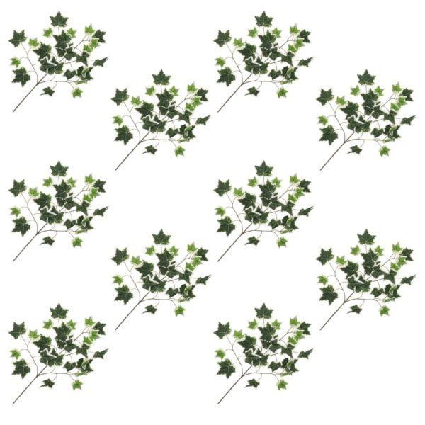 Künstliche Blätter Efeu 10 Stk. Grün und Weiß 70 cm