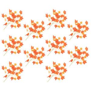Künstliche Blätter Efeu 10 Stk. Rot 70 cm