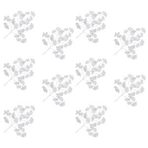 Künstliche Blätter Ginko 10 Stk. Weiß 65 cm