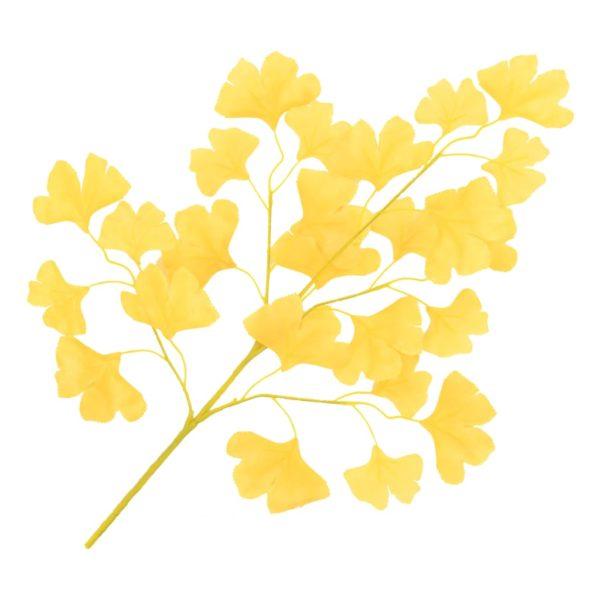 Künstliche Blätter Ginko 10 Stk. Gelb 65 cm
