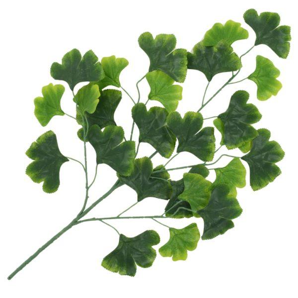 Künstliche Blätter Ginko 10 Stk. Grün 65 cm