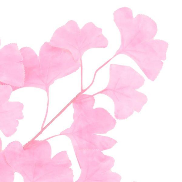 Künstliche Blätter Ginko 10 Stk. Rosa 65 cm