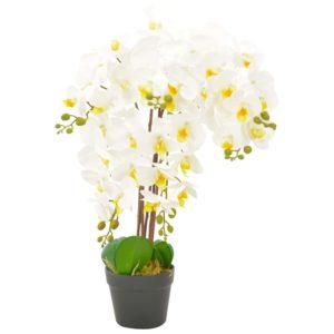Künstliche Orchidee mit Topf Weiß 60 cm