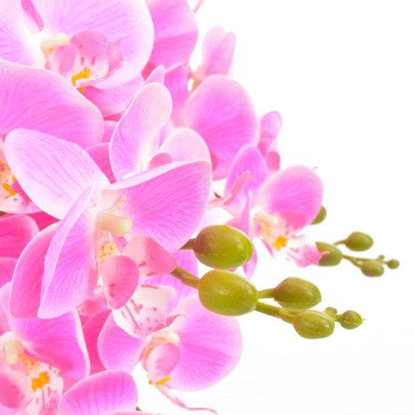 Künstliche Orchidee mit Topf Rosa 60 cm