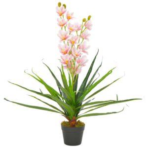Künstliche Orchidee mit Topf Rosa 90 cm