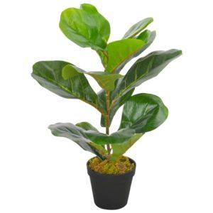 Künstliche Pflanze Geigen-Feige mit Topf Grün 45 cm