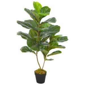 Künstliche Pflanze Geigen-Feige mit Topf Grün 90 cm