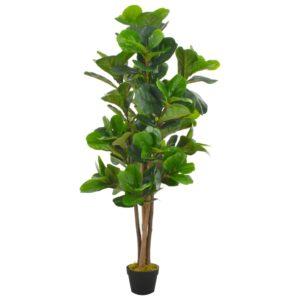 Künstliche Pflanze Geigen-Feige mit Topf Grün 152 cm