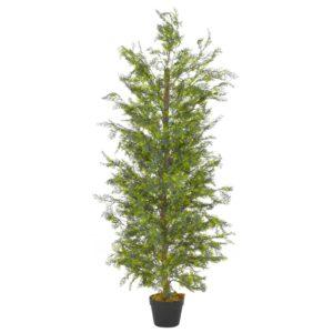 Künstliche Pflanze Zypresse mit Topf Grün 150 cm