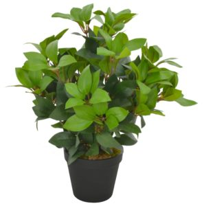 Künstliche Pflanze Lorbeerbaum mit Topf Grün 40 cm
