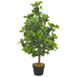 Künstliche Pflanze Lorbeerbaum mit Topf Grün 90 cm