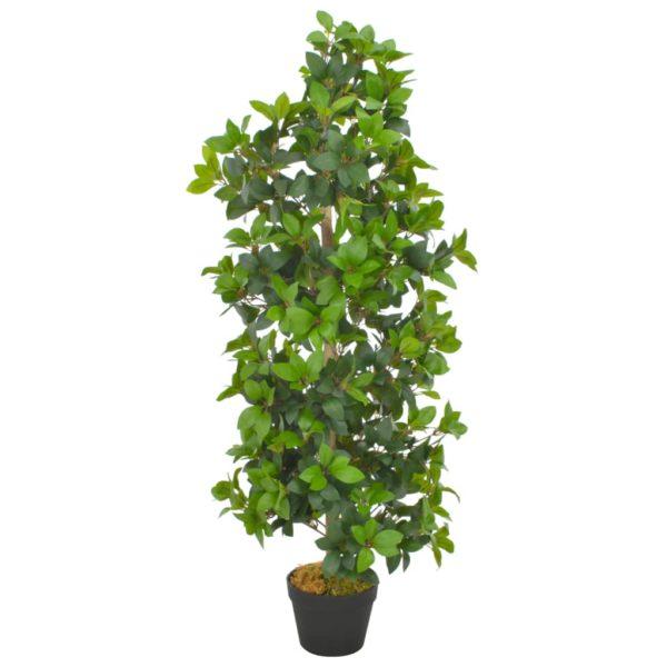 Künstliche Pflanze Lorbeerbaum mit Topf Grün 120 cm
