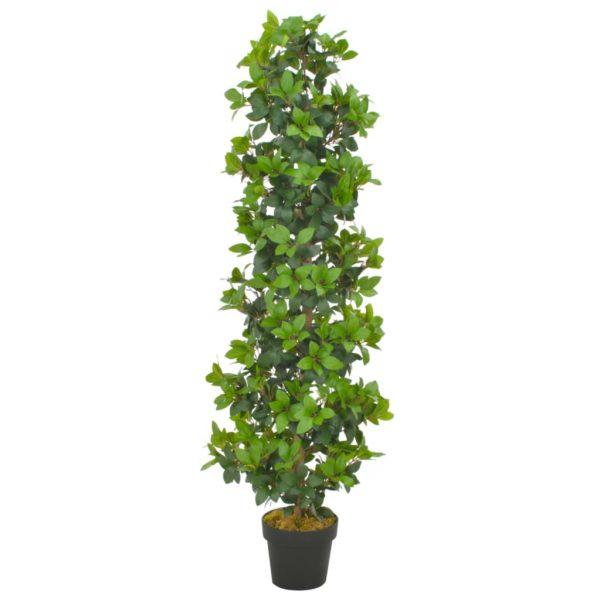 Künstliche Pflanze Lorbeerbaum mit Topf Grün 150 cm