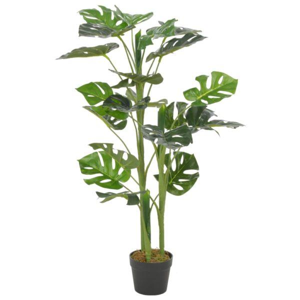 Künstliche Pflanze Monstera mit Topf Grün 100 cm