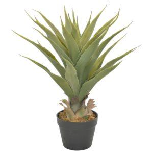 Künstliche Pflanze Yucca mit Topf Grün 90 cm