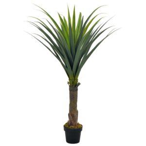 Künstliche Pflanze Yucca-Baum mit Topf Grün 145 cm