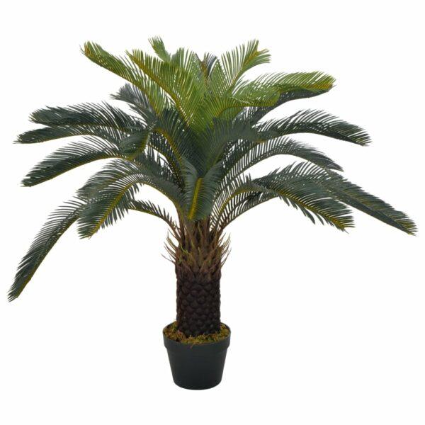 Künstliche Pflanze Cycas-Palme mit Topf Grün 90 cm
