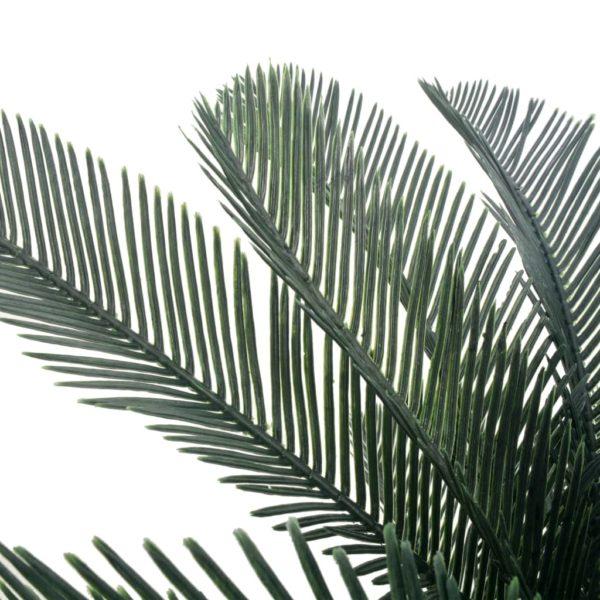 Künstliche Pflanze Cycas-Palme mit Topf Grün 125 cm