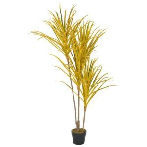 Künstliche Pflanze Dracaena mit Topf Gelb 125 cm