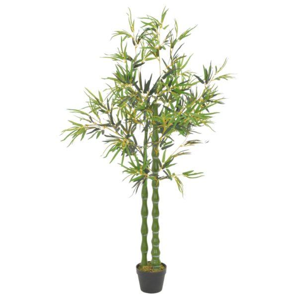 Künstliche Pflanze Bambus mit Topf Grün 160 cm