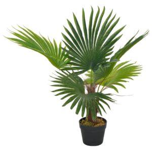 Künstliche Pflanze Palme mit Topf Grün 70 cm