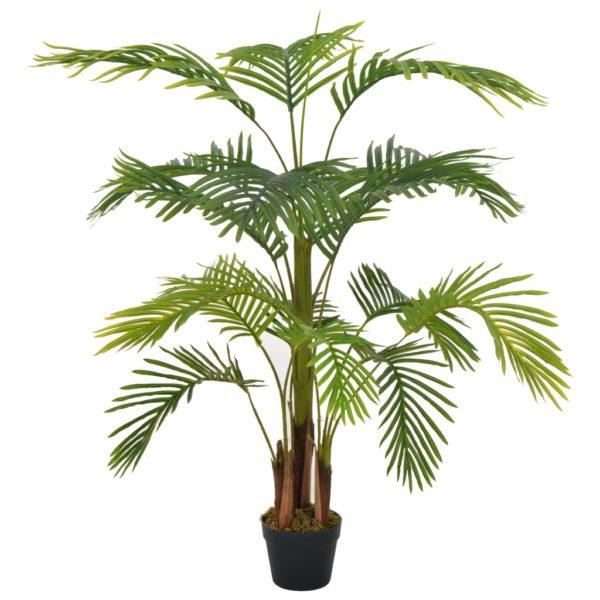 Künstliche Pflanze Palme mit Topf Grün 120 cm