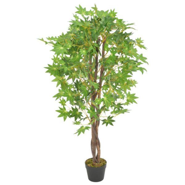 Künstliche Pflanze Ahornbaum mit Topf Grün 120 cm
