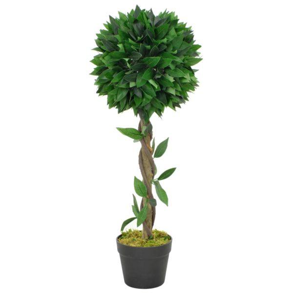 Künstliche Pflanze Lorbeerbaum mit Topf Grün 70 cm