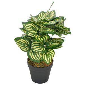 Künstliche Pflanze Wassermelone Blätter mit Topf Grün 45 cm