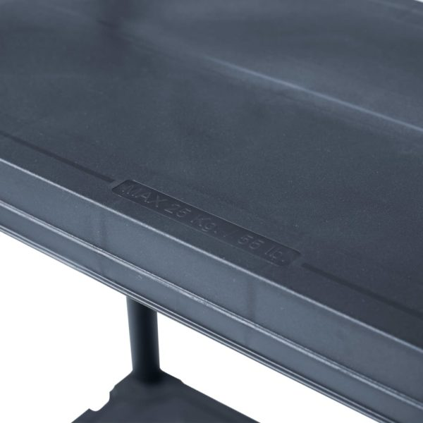 Lagerregal Schwarz 125 kg 60 x 30 x 180 cm Kunststoff