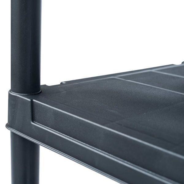 Lagerregal Schwarz 200 kg 80 x 40 x 138 cm Kunststoff