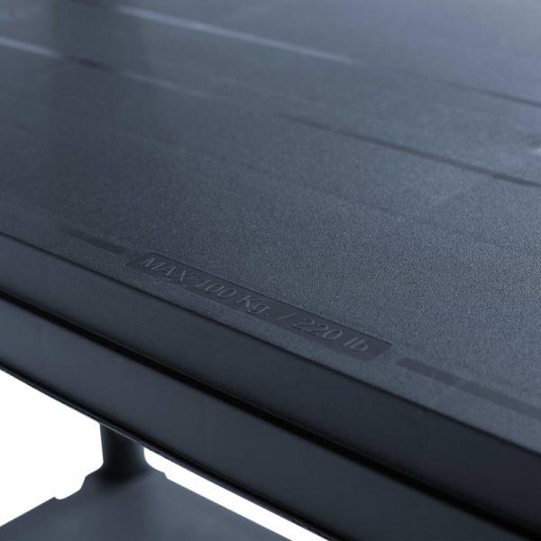 Lagerregal Schwarz 500 kg 90 x 60 x 180 cm Kunststoff