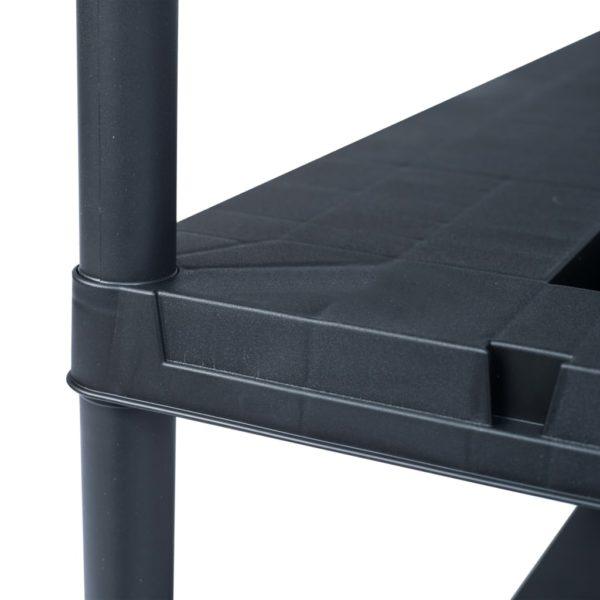 Lagerregal Schwarz 220 kg 90 x 40 x 138 cm Kunststoff