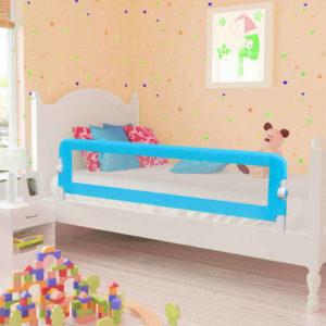 Kleinkind Bettschutzgitter 2 Stück Blau 150 x 42 cm