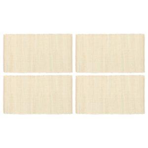 Tischsets 4 Stk. Chindi Uni Creme 30 x 45 cm Baumwolle