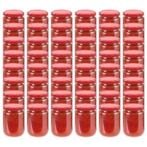 Marmeladengläser mit Rotem Deckel 48 Stk. 230 ml