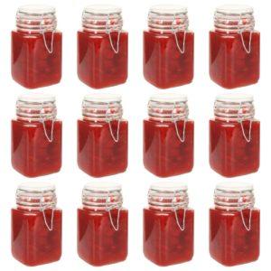 Einmachgläser mit Bügelverschluss 12 Stk. 260 ml