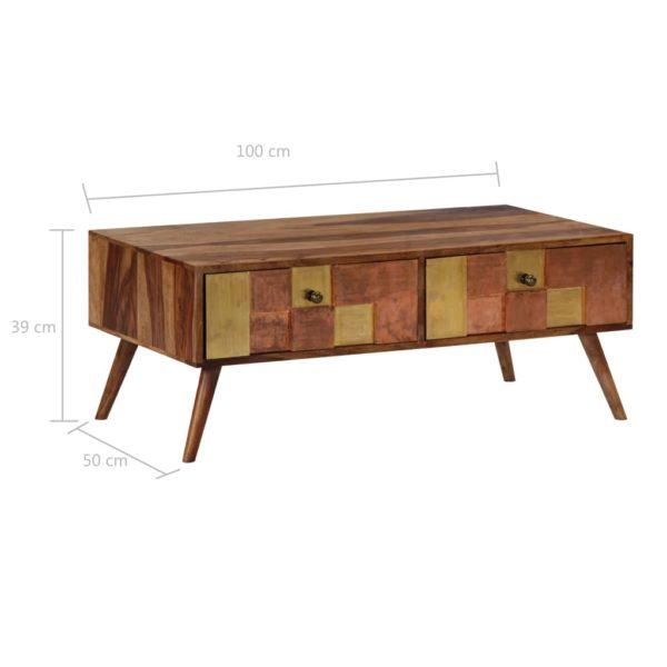Couchtisch 100 x 50 x 39 cm Massivholz