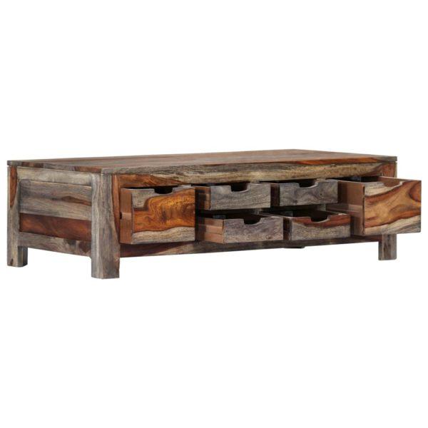 Couchtisch Grau 100 x 55 x 30 cm Massivholz