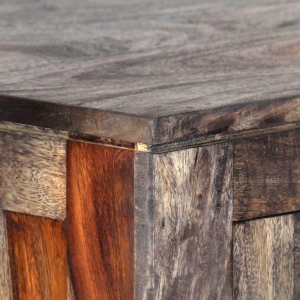Highboard Grau 118 x 40 x 140 cm Massivholz