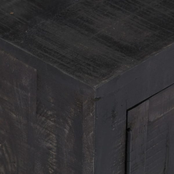 TV-Schrank Schwarz 118 x 30 x 40 cm Massivholz Mango