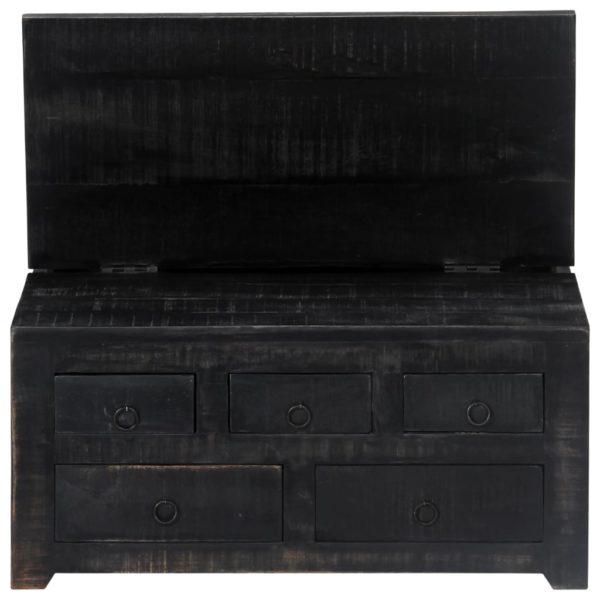 Couchtisch Schwarz 65 x 65 x 30 cm Mangoholz Massiv
