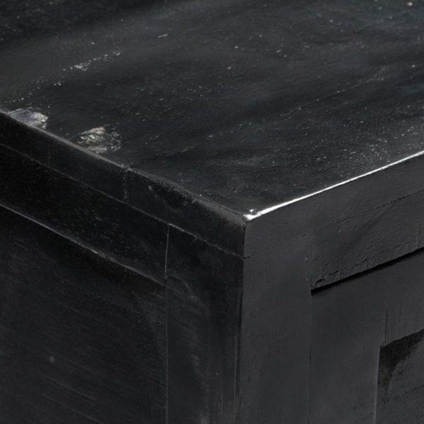 Sideboard Schwarz 147 x 40 x 80 cm Massivholz Mango