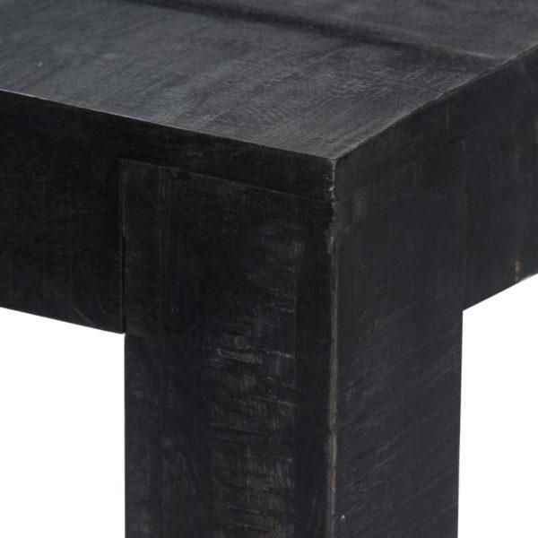 Esstisch Schwarz 140 x 80 x 76 cm Mango-Massivholz